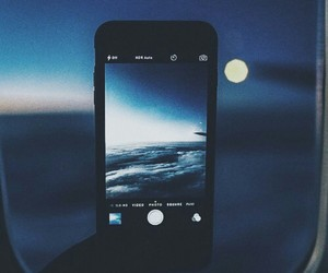 iphone, night, and sky image