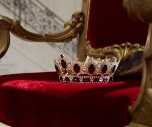 red, crown, and aesthetic image