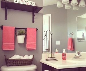 home, bathroom, and decoration image