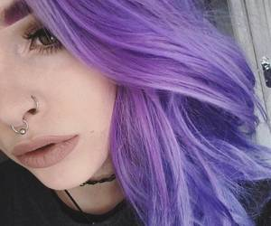 dyed, girl, and hair image