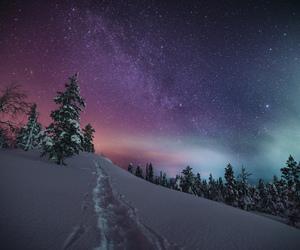 beautiful nature, finland, and winter image
