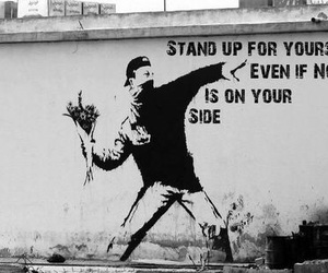 quotes, stand up, and black and white image
