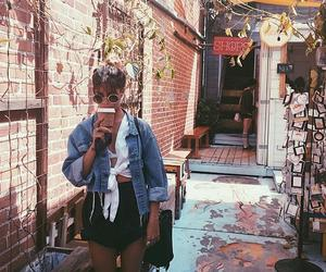 coffee, girl, and summer image