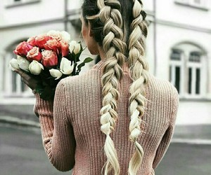 braids, flowers, and hairgoals image