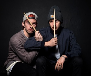twenty one pilots, tyler joseph, and josh dun image