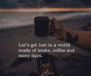 books, coffee, and fantasy world image