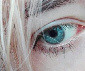 eye, girl, and blue eye image