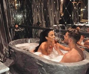 couple, love, and bath image
