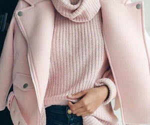 clothed, fashion, and pink image