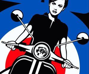 chicas en motos image