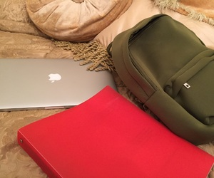 apple, green, and backpack image