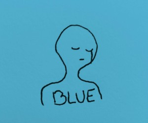 aesthetic, blue, and sketch image