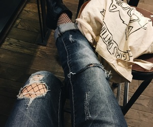 aesthetic, boyfriend jeans, and fashion image