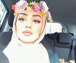 arab, girl, and hijab image