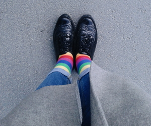 lgbtq, socks, and rainbow image