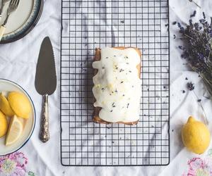 lavender, lemon, and cake image