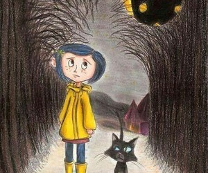 cat, coraline, and Darkness image