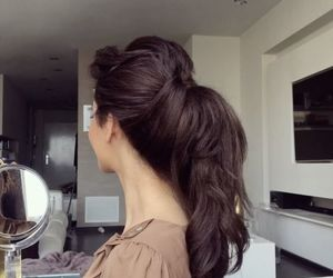 beauty, hair, and ponytail image