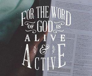 god, bible, and word image