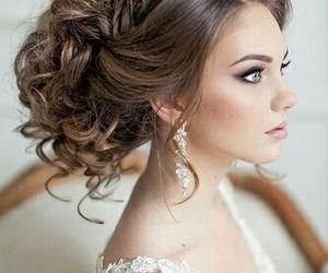 hair, hair style, and wedding image