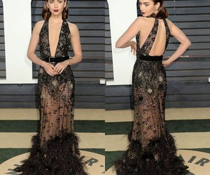 lily collins and oscar image