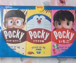 chocolate, doraemon, and pocky image