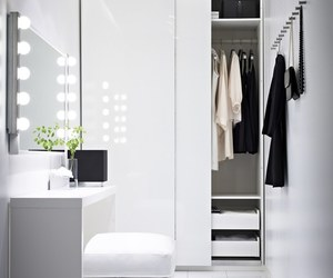 white, closet, and interior image