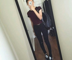 outfit, tumblr, and black image