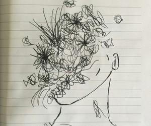 art, deep, and flowers image