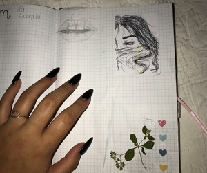art, dainty, and diary image