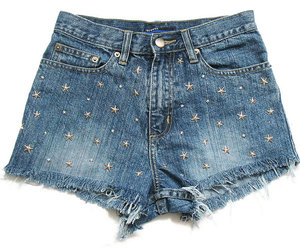 cool, studded, and cut off shorts image