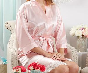 bridesmaid gifts, bridal bathrobe, and bridesmaid robe image