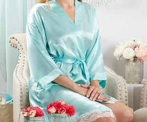 bridesmaid gifts, bridesmaid robe, and bridal robe image
