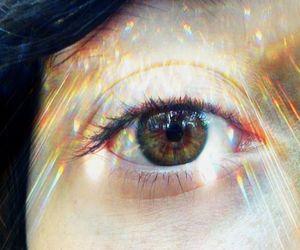 eye, green, and lights image