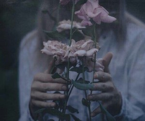 flowers, grunge, and dark image
