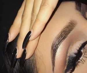 eyebrows, nails, and eyes image