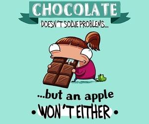 chocolate, saying, and food image
