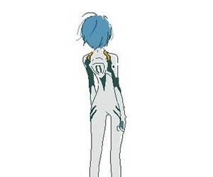evangelion and rei+ayanami image