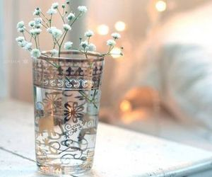 flowers, glass, and light image