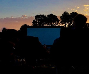sunset, date night, and outdoor movie theatre image