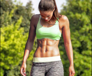 girl, abs, and fitness image
