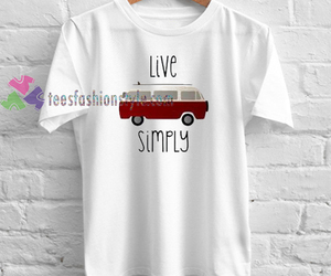 unisex custom clothing, live simply bike shirt, and live simply shirt image