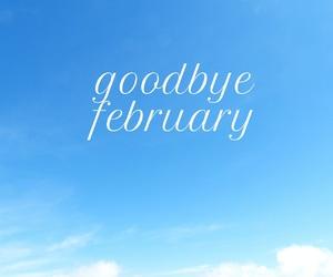 february, easel, and goodbye image