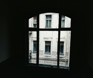 Darkness, windows, and alone image