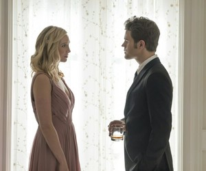 stefan salvatore, tvd, and caroline forbes image