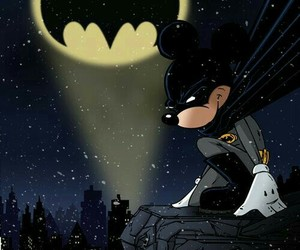 batman, mickey, and mickey mouse image