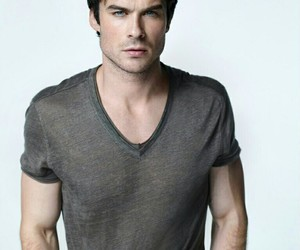 ian somerhalder, tvd, and damon salvatore image