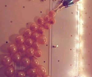 balloons, party, and light image