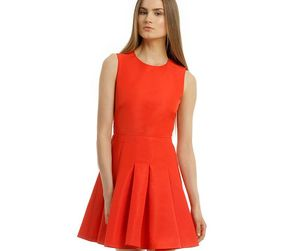 dress, satin dress, and mini length dress image