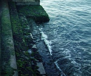 sea, ocean, and stairs image